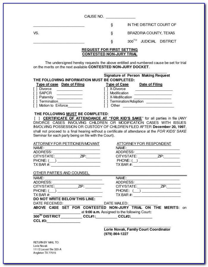 Divorce Forms For Burlington County Nj