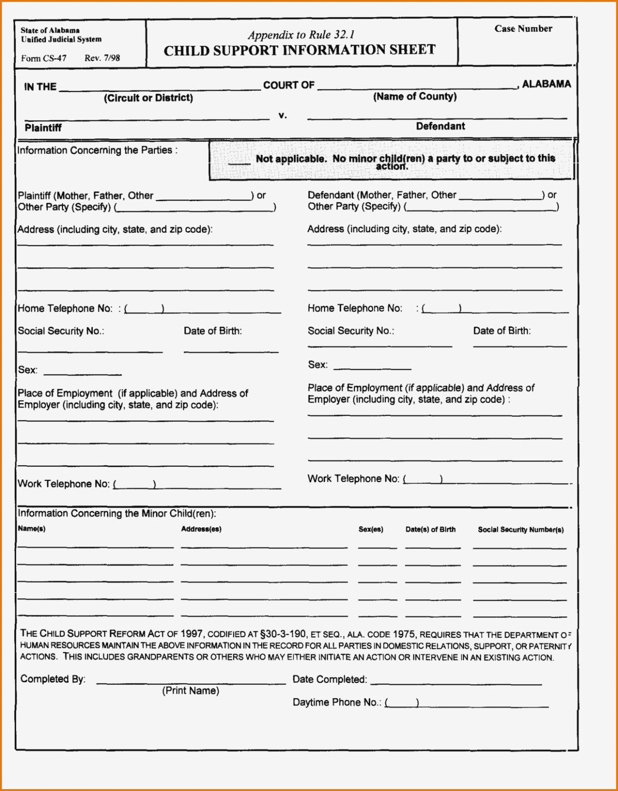 Divorce Petition Form Pdf