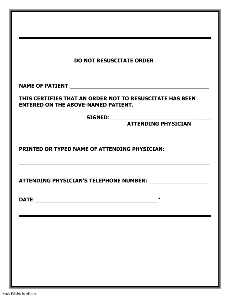 Do Not Resuscitate (dnr) Georgia Form