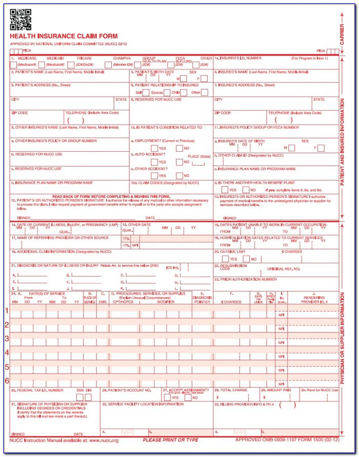 Does Medicare Accept The Cms 1500 Claim Form