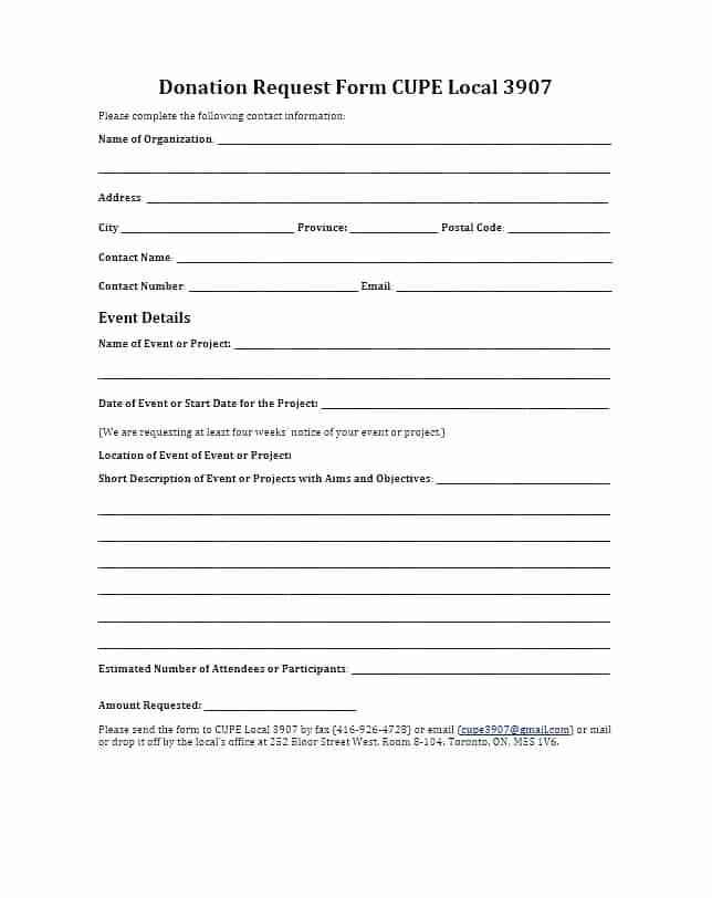 Donation Form Template For Nonprofit