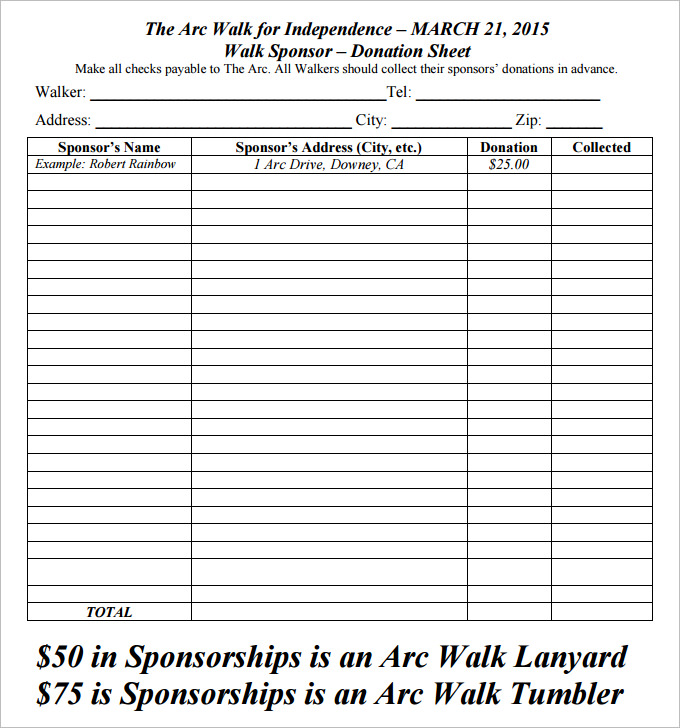 Donation Forms Templates Free