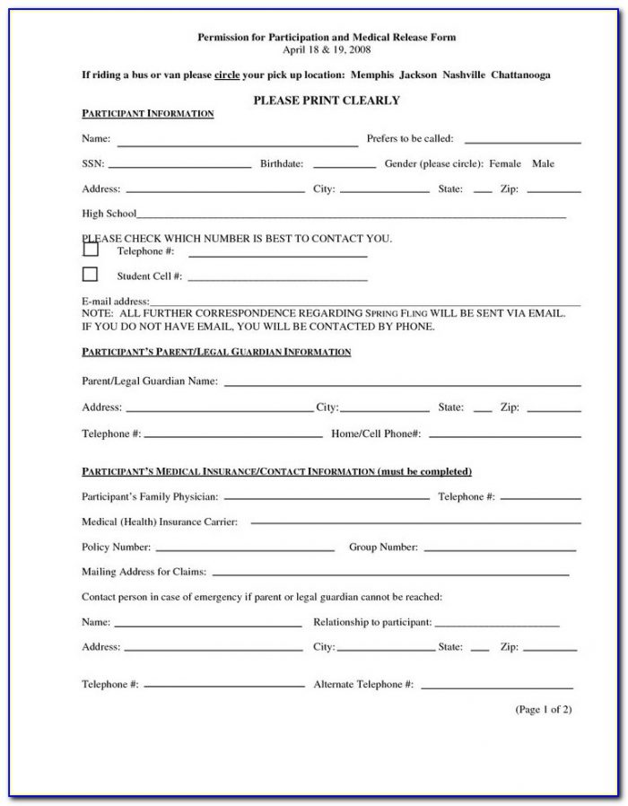 Dot Medical Release Forms