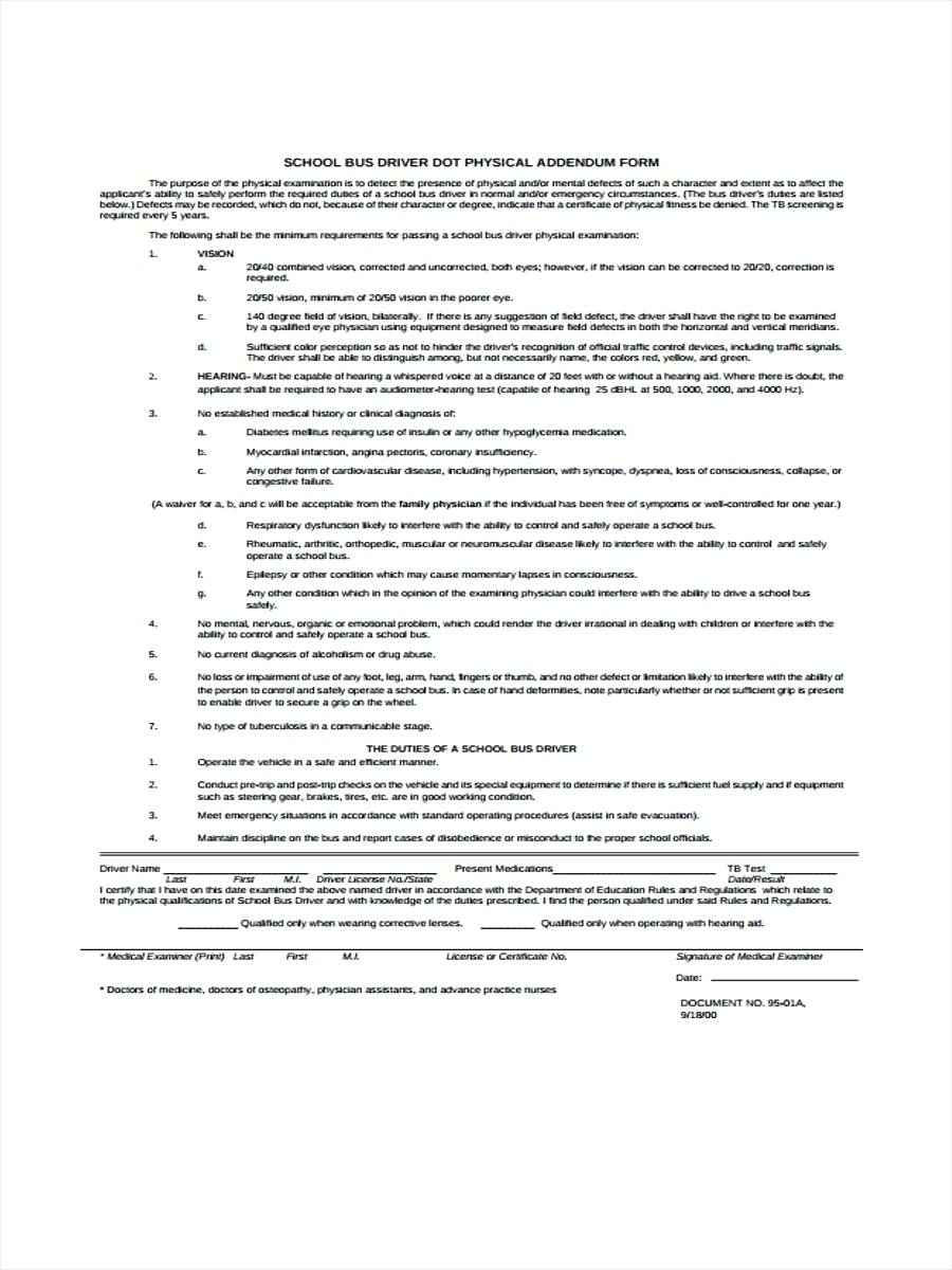 Dot Vehicle Inspection Form Daily