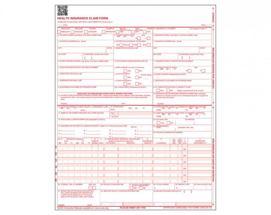 Download Hcfa 1500 Form Pdf