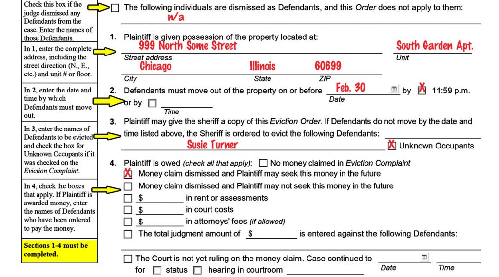 Dupage County Eviction Complaint Form