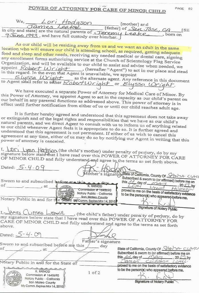 Durable Medical Power Of Attorney Form Colorado