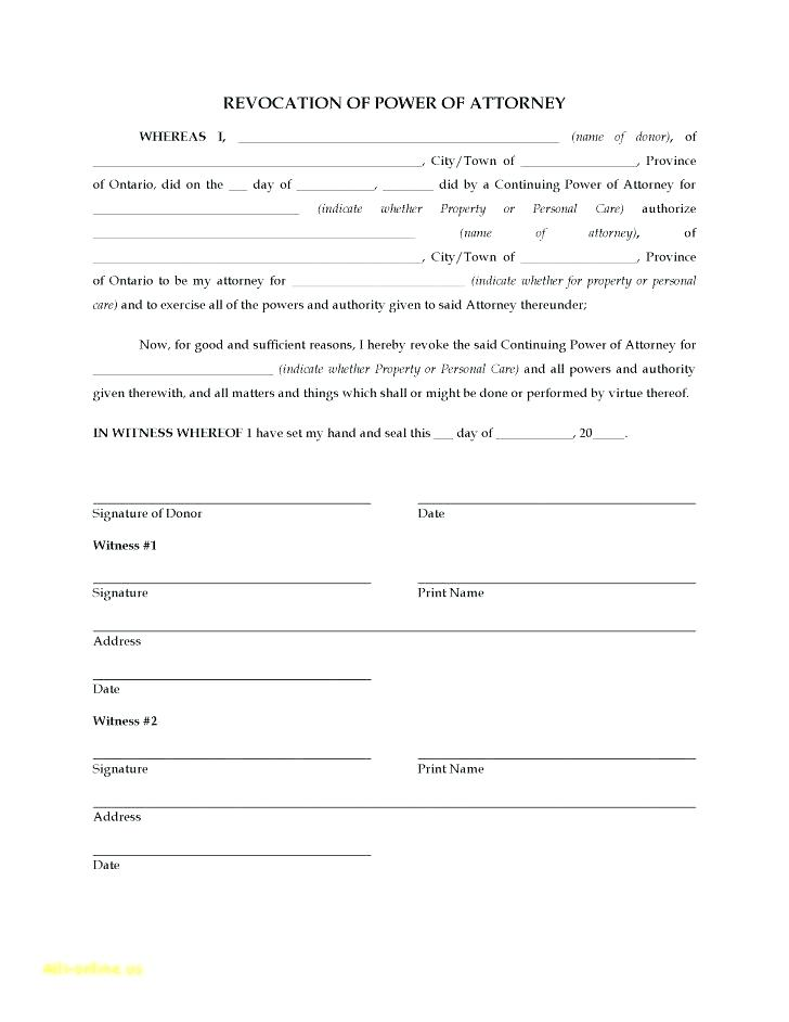 Durable Medical Power Of Attorney Form Ohio
