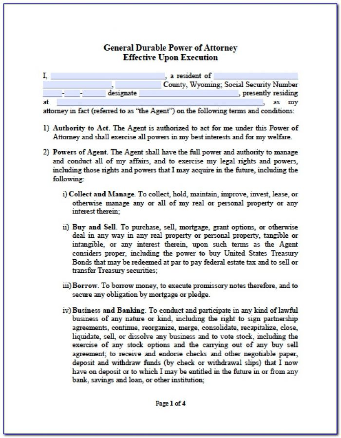 Durable Power Of Attorney For Finances Form Iowa