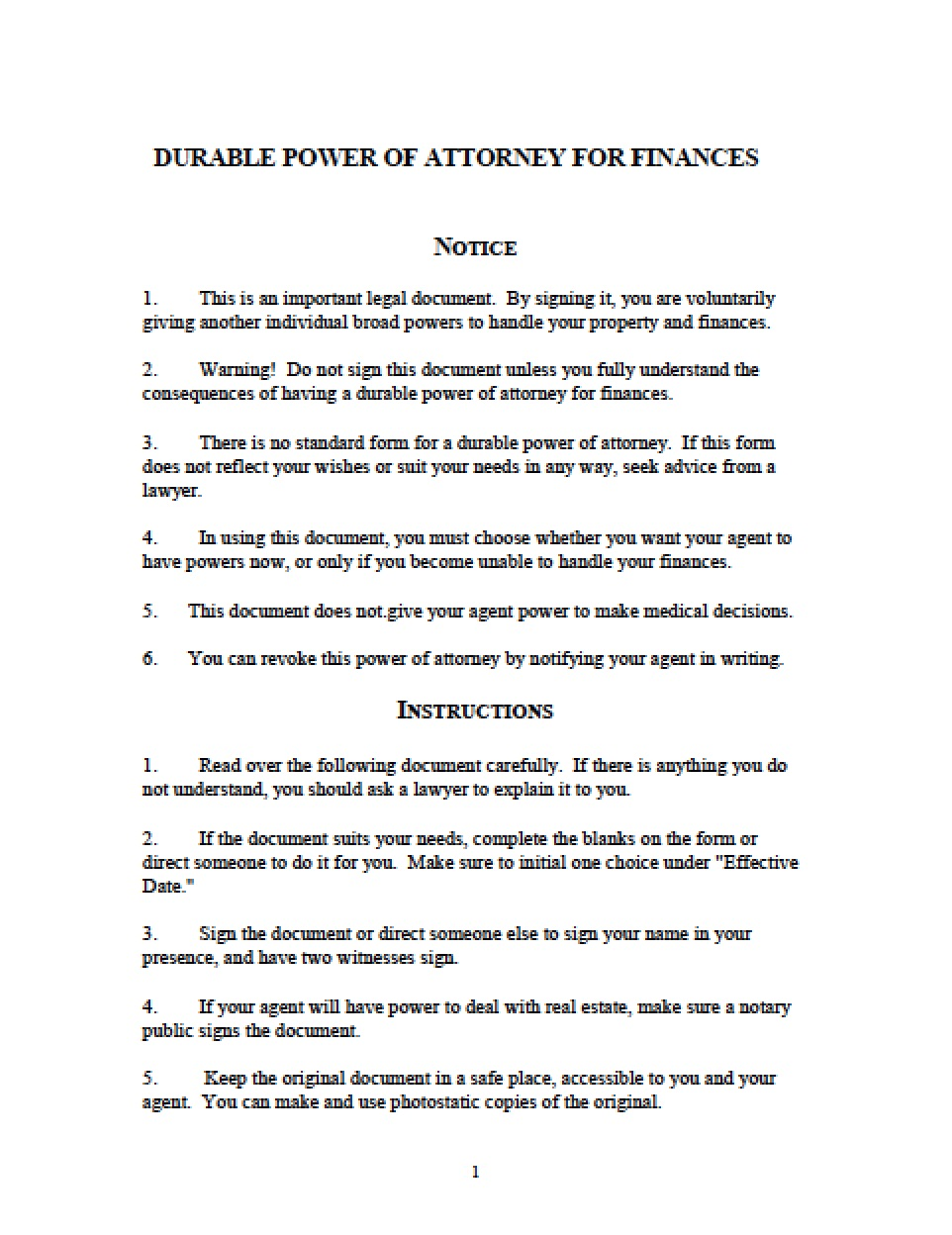 Durable Power Of Attorney For Health Care Michigan Form