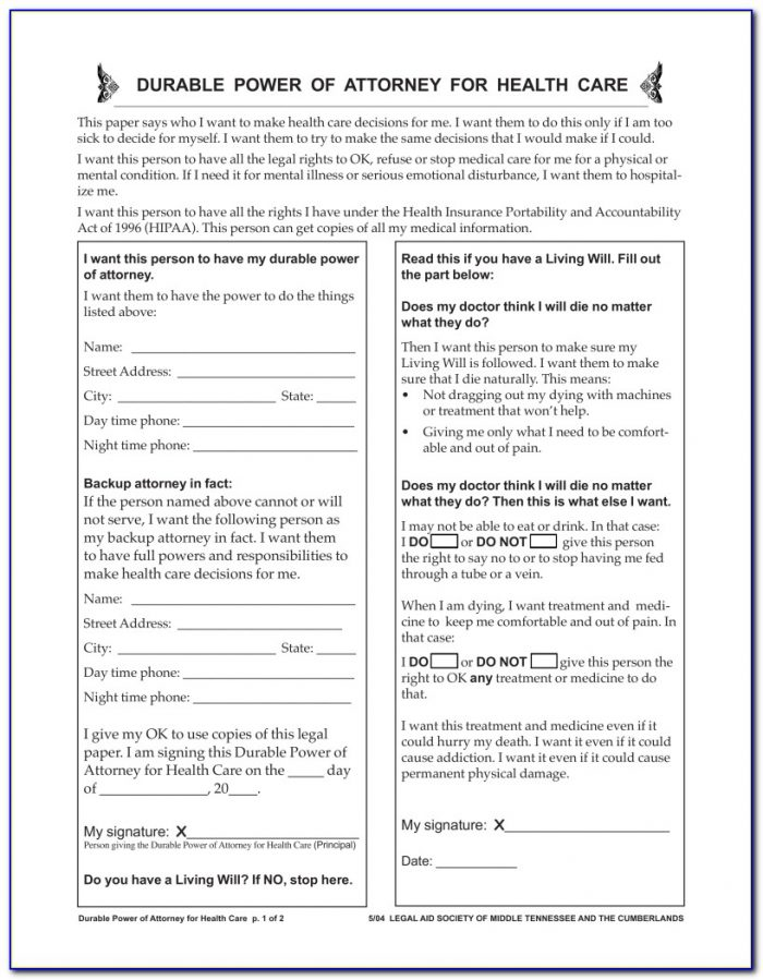 Durable Power Of Attorney For Healthcare Form Kansas