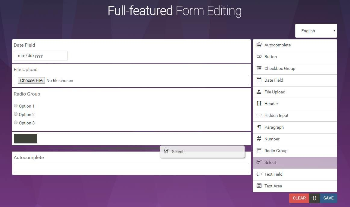 Dynamic Form Builder In Jquery
