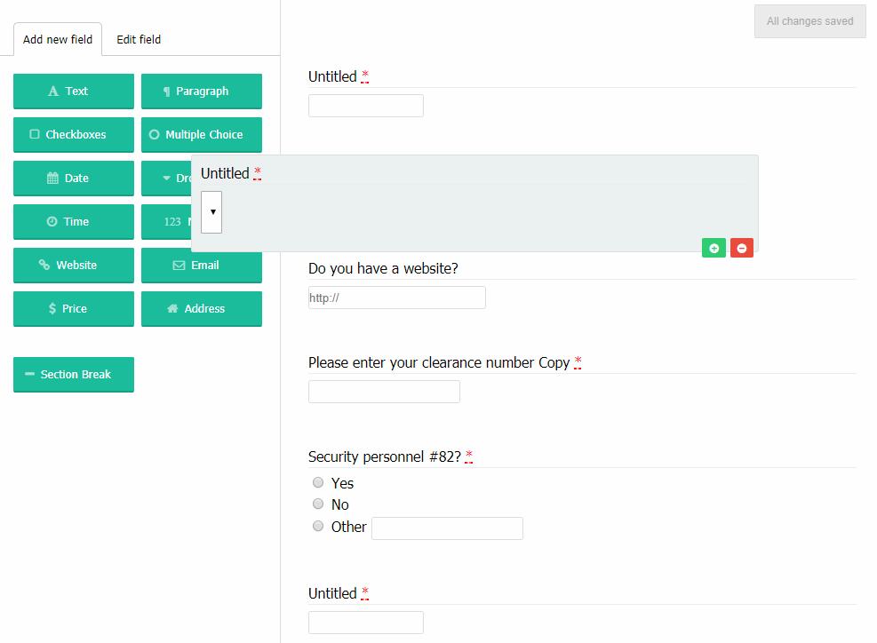 Dynamic Form Builder Javascript
