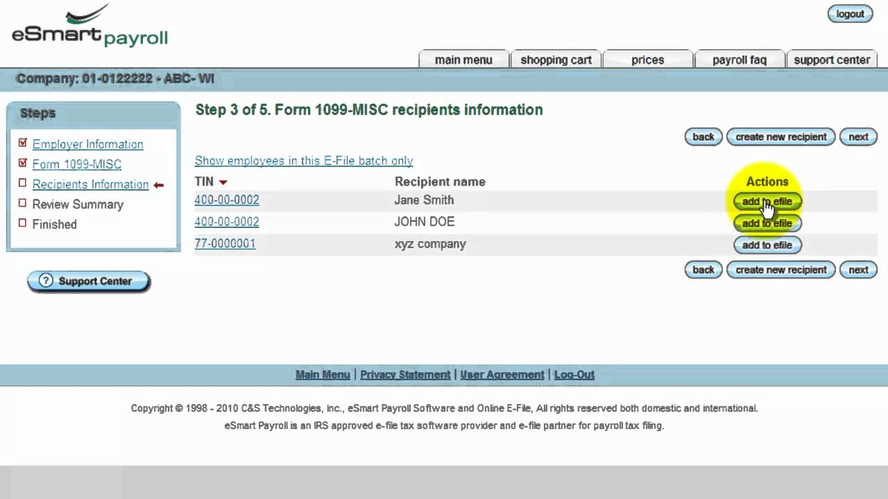 E File Payroll Tax Forms