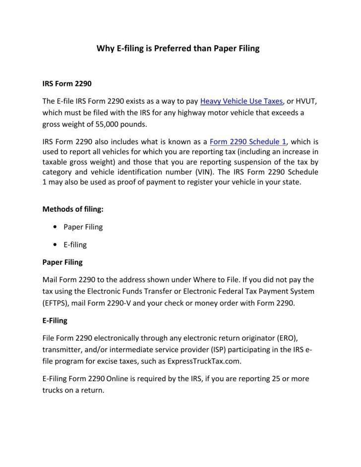 E File Tax Return Form