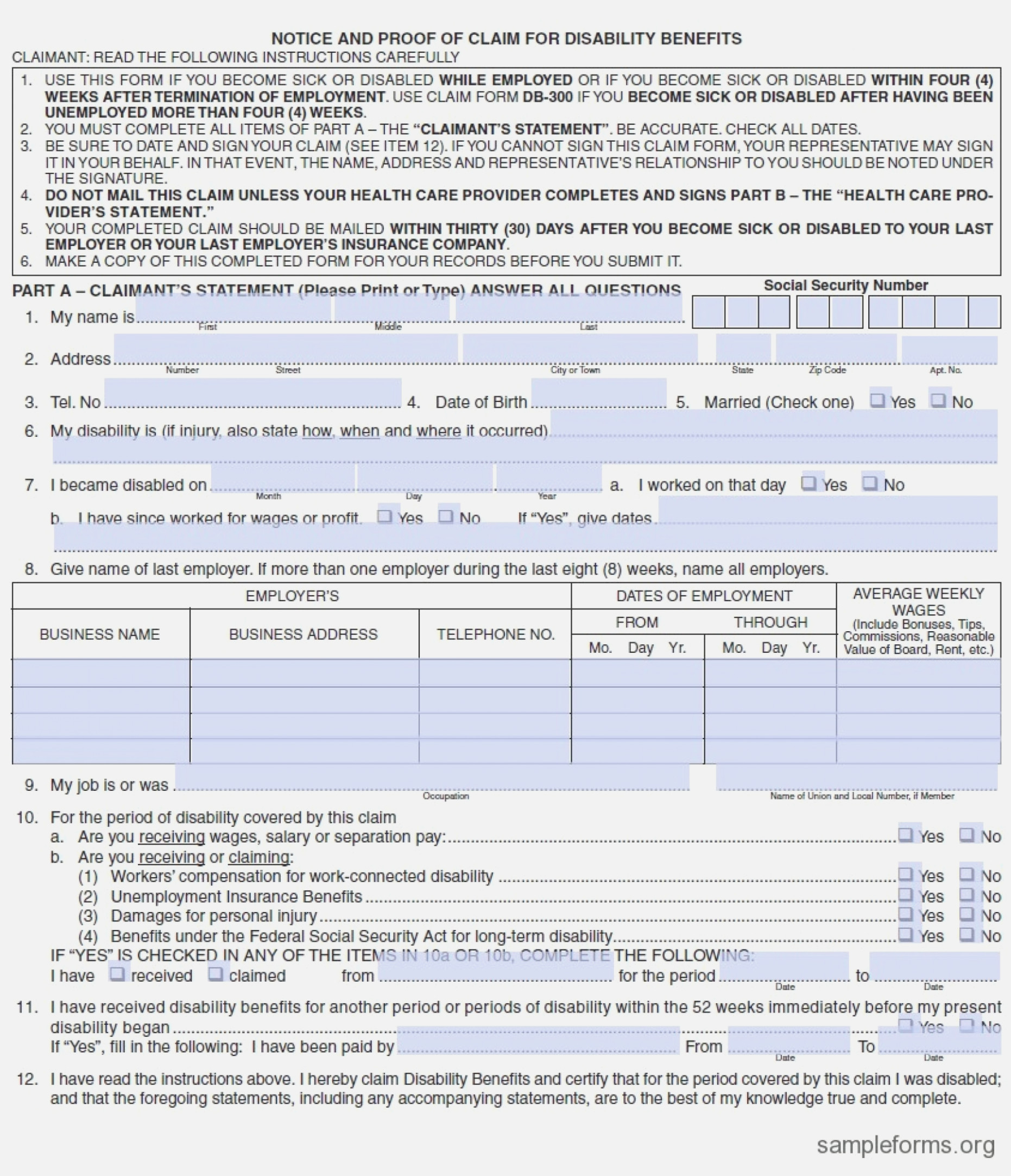 Edd Temporary Disability Forms