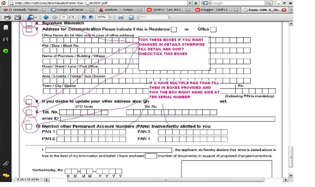 Editable Pdf Form 49a