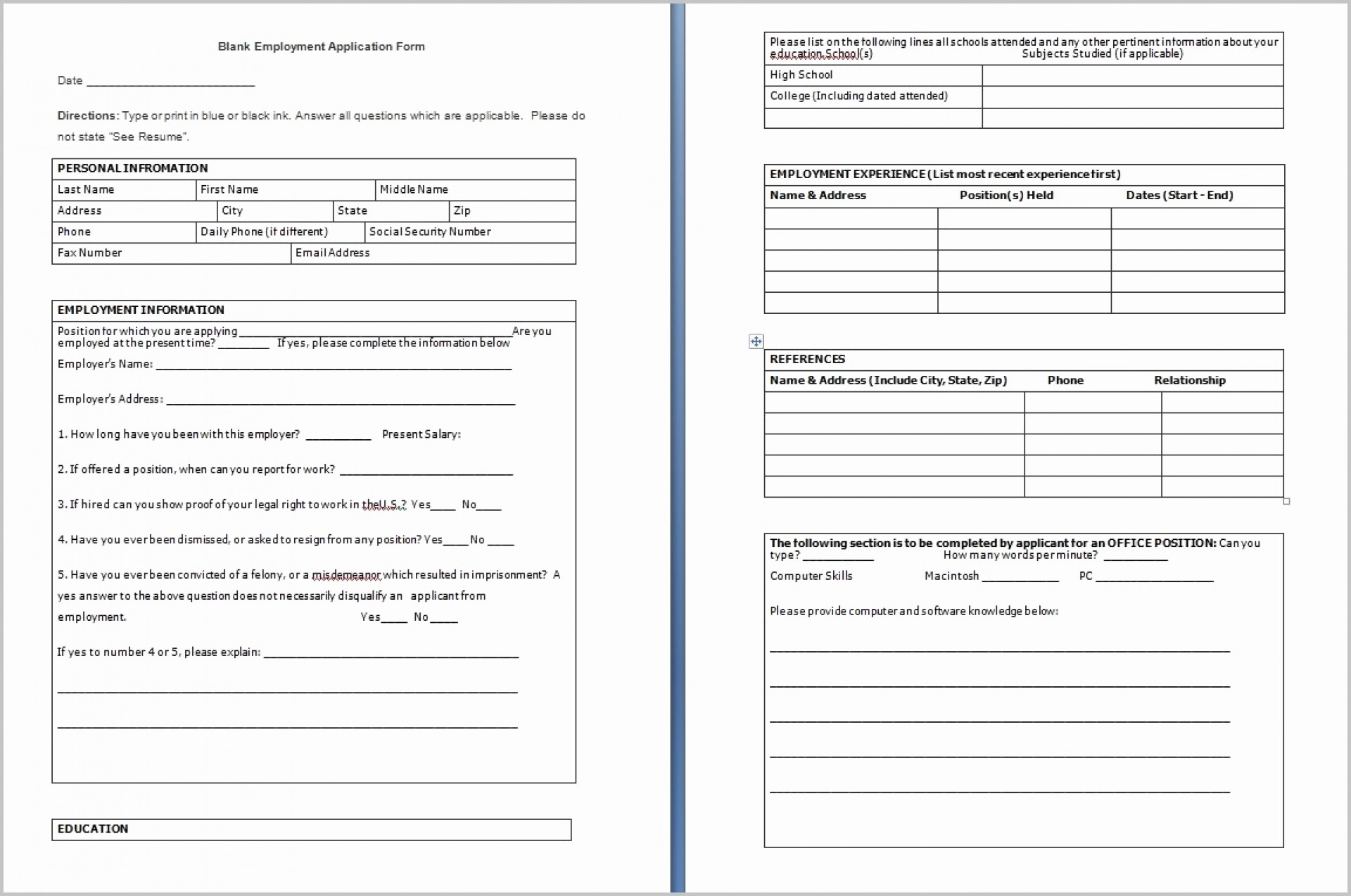 Editable Pdf Form From Word