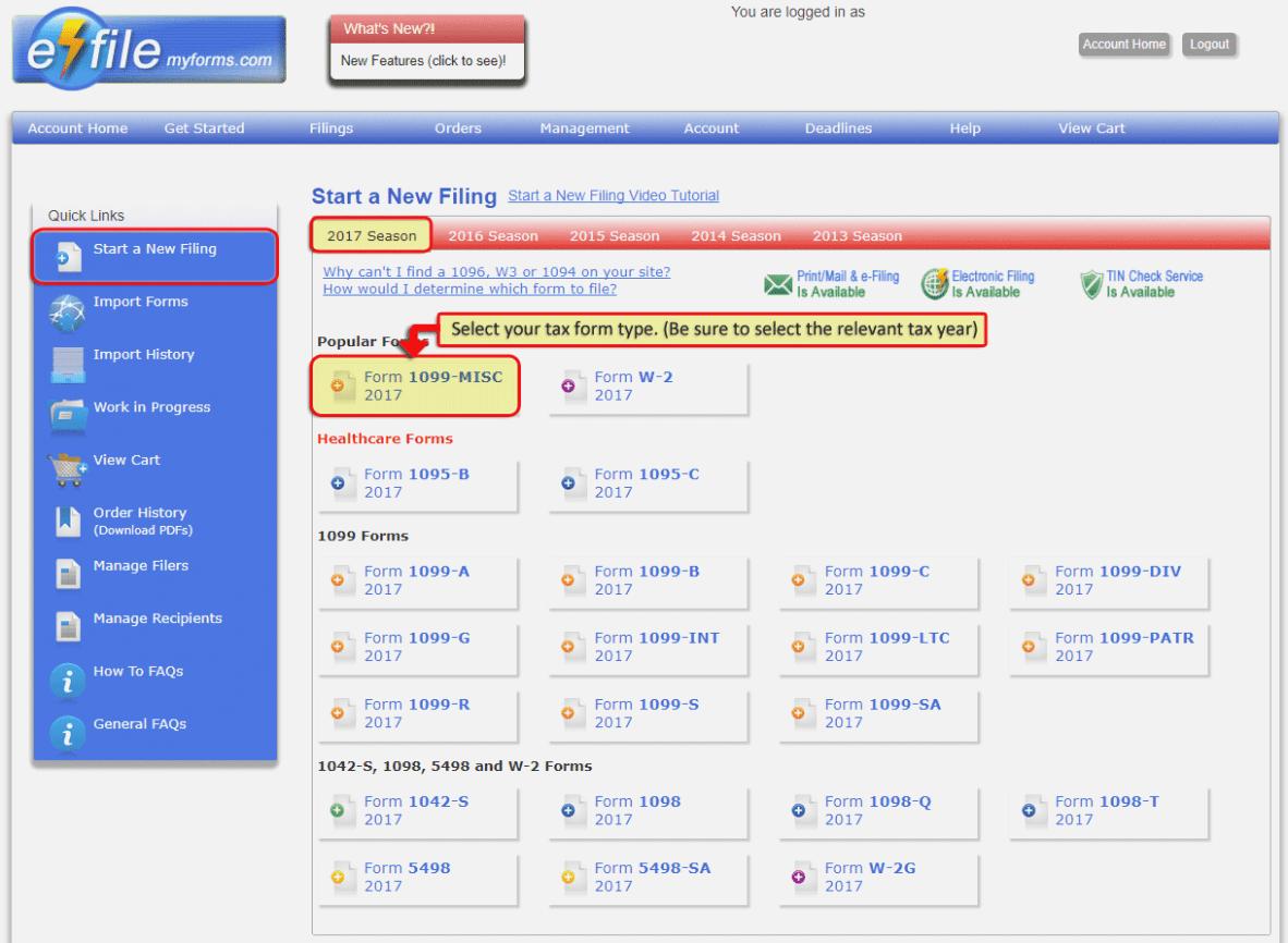 Efile 1099 Forms Online