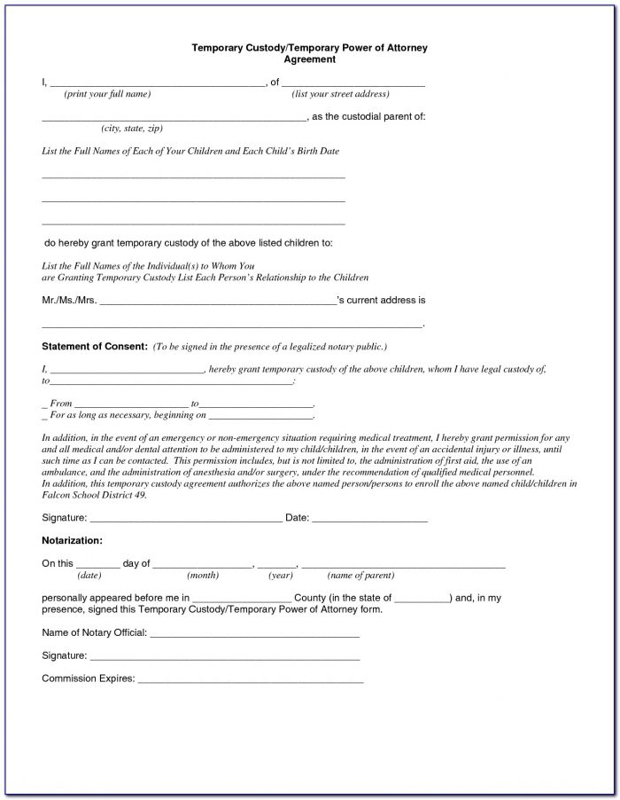 Emergency Custody Forms Texas