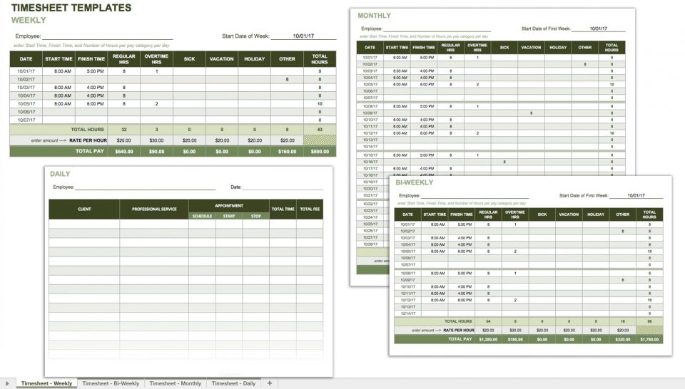 Employee Attendance Tracking Forms Free