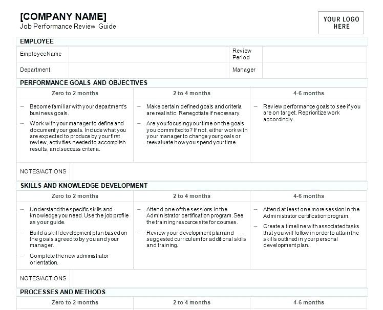 Employee Evaluation Form For Non Profit