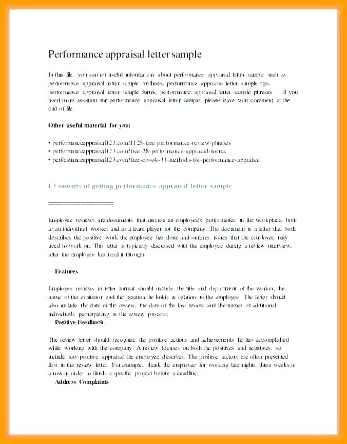 Employee Performance Review Forms Free Printable