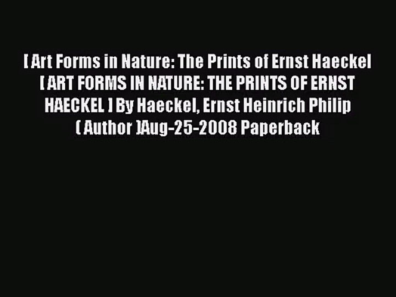 Ernst Haeckel Art Forms In Nature Download