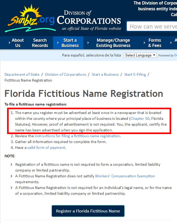 Establishing A Corporation In Florida