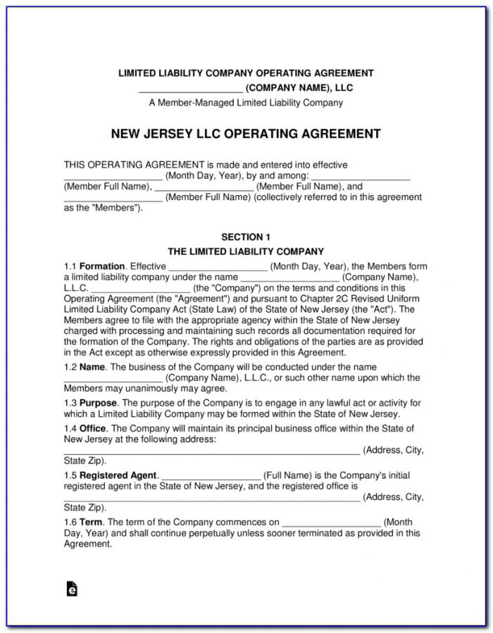 Establishing An Llc In New Jersey