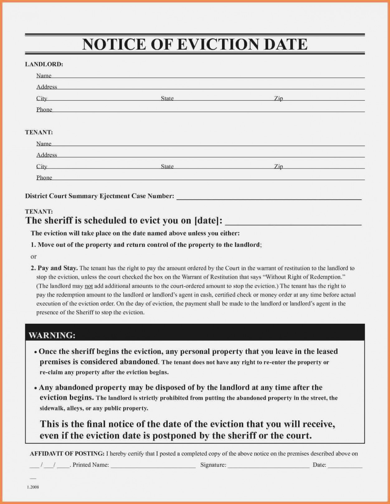 Eviction Notice Texas Form Free