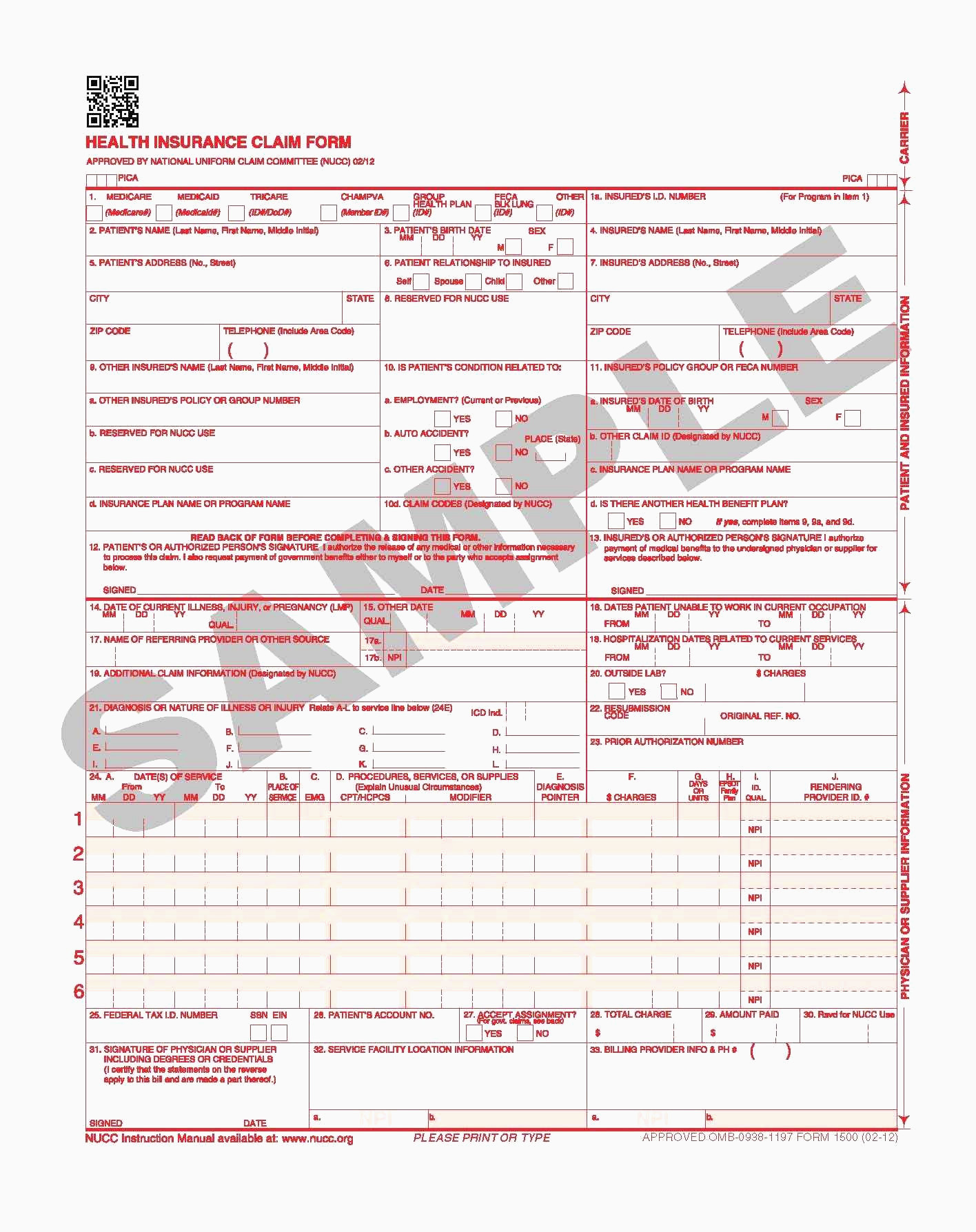 Cms 1500 Form Inspirational Sample Cms 1500 Form 02 12 As Well As 20 Unique 1500 Claim Form