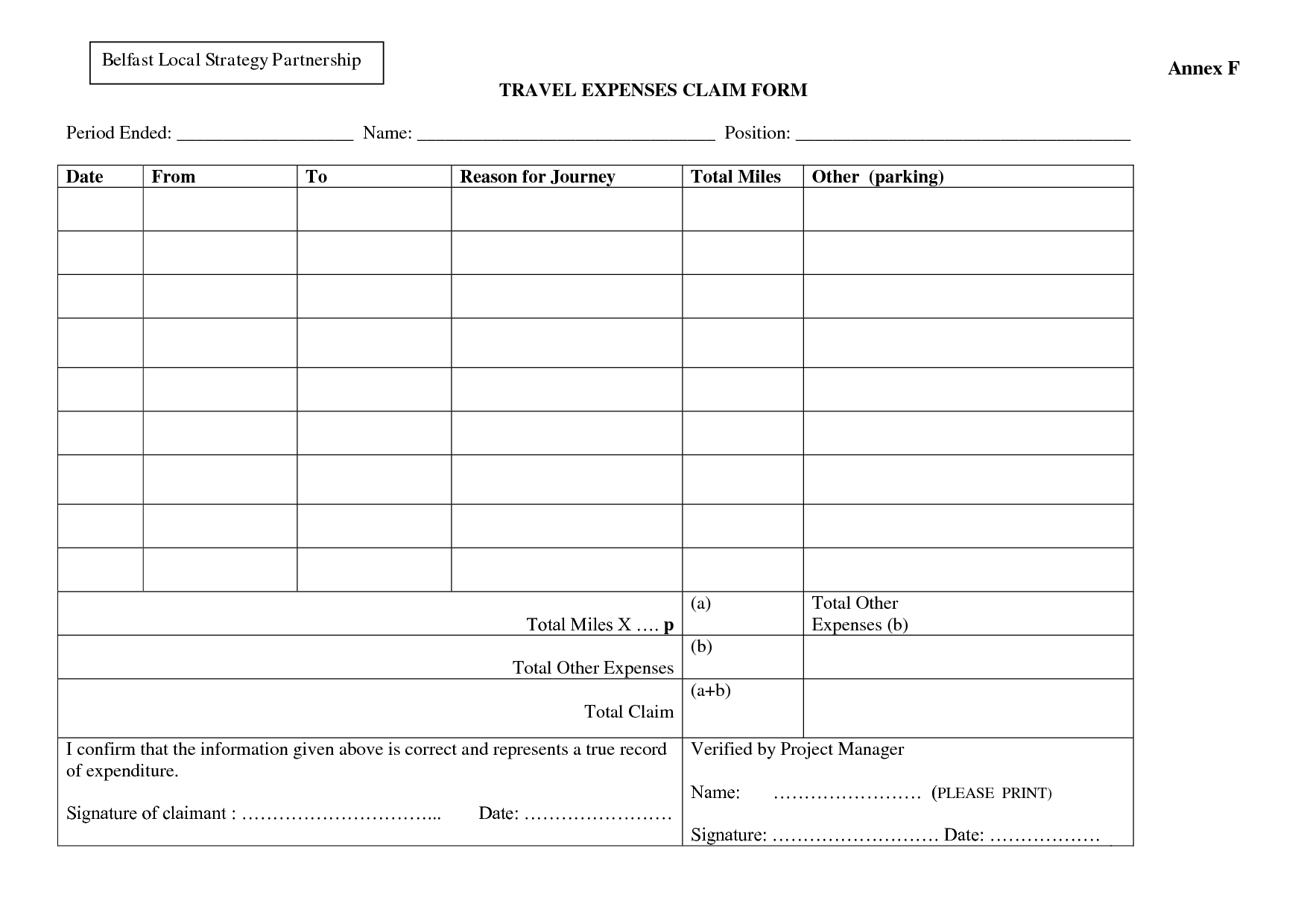Expense Claim Form Templates