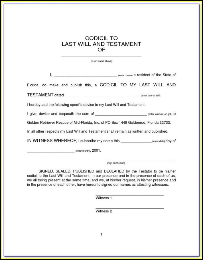 Ez Legal Forms Last Will And Testament