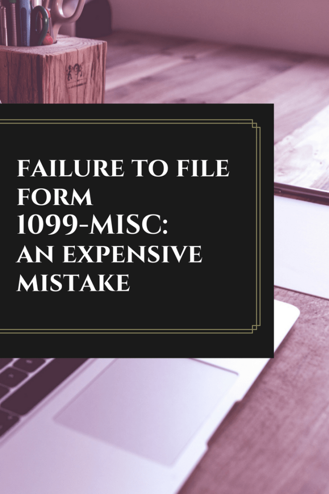Failure To File Form 1099 Misc
