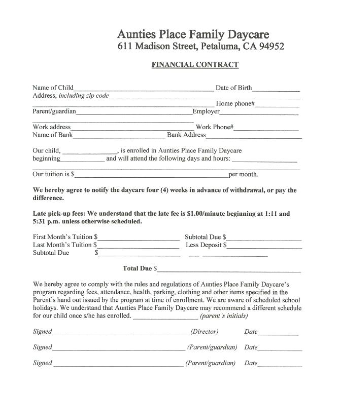 Family Day Care Application Form