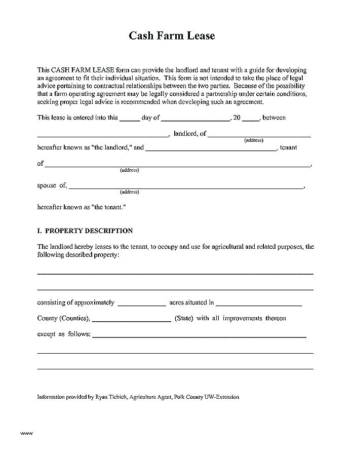 Farm Lease Agreement Form Australia