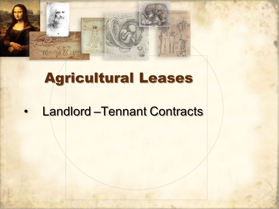 Farm Lease Contracts