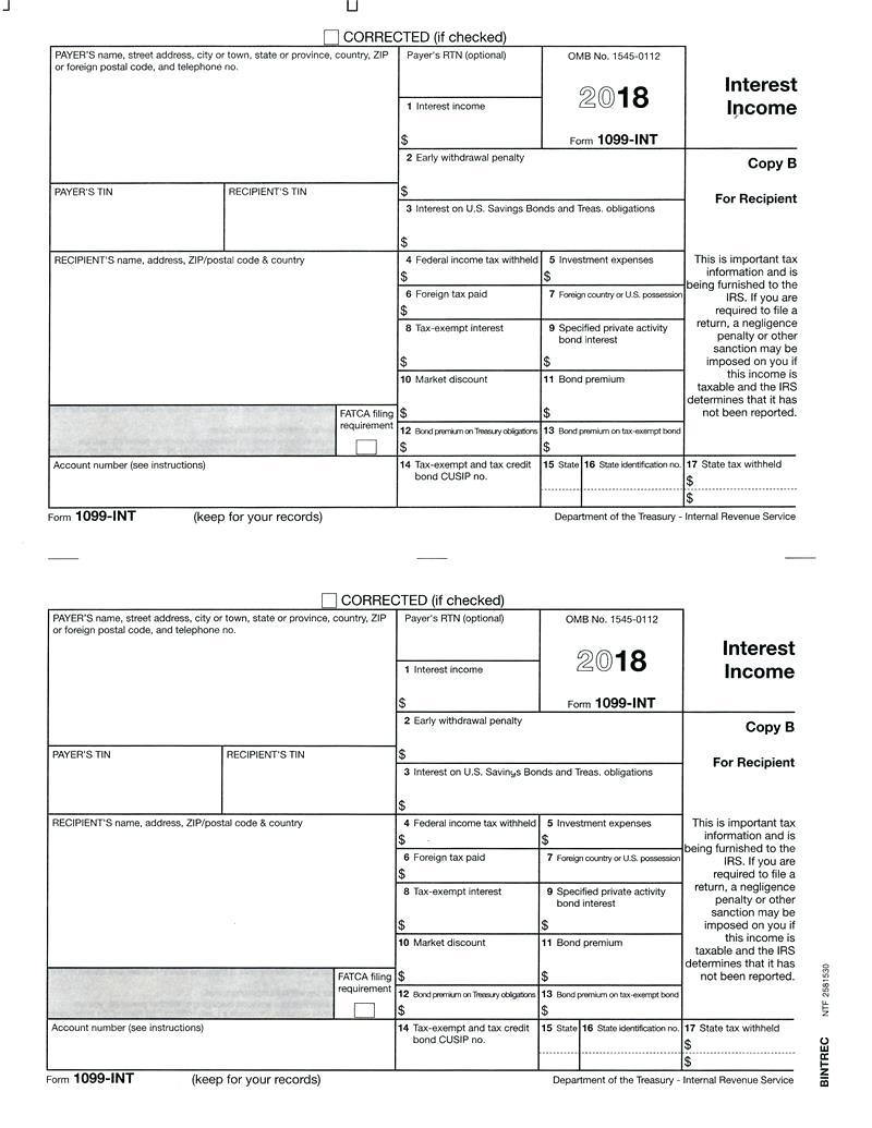 Federal Form 1099 B
