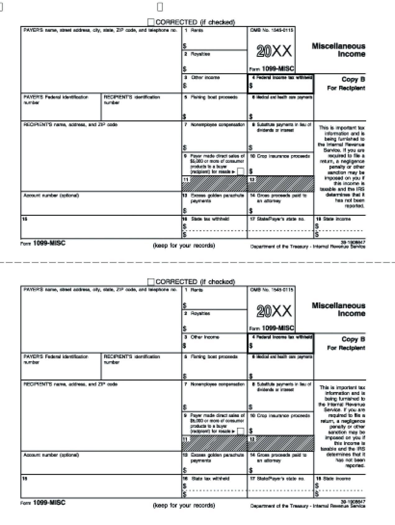 Federal Form 1099 C