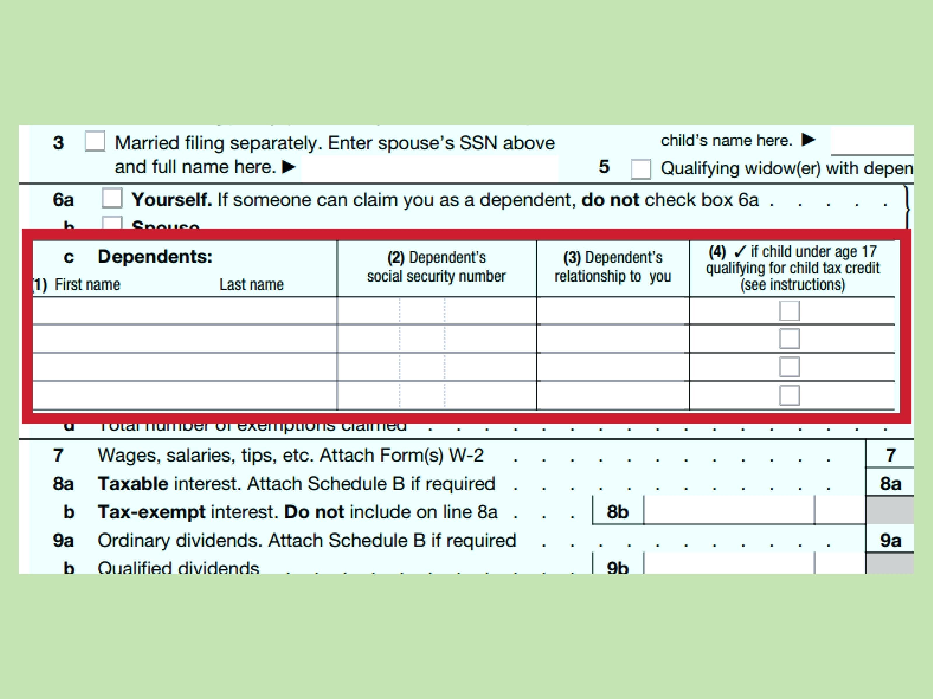 Federal Tax Return Form W2