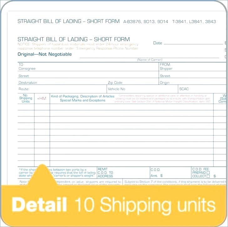 Fedex Freight Bill Of Lading Form