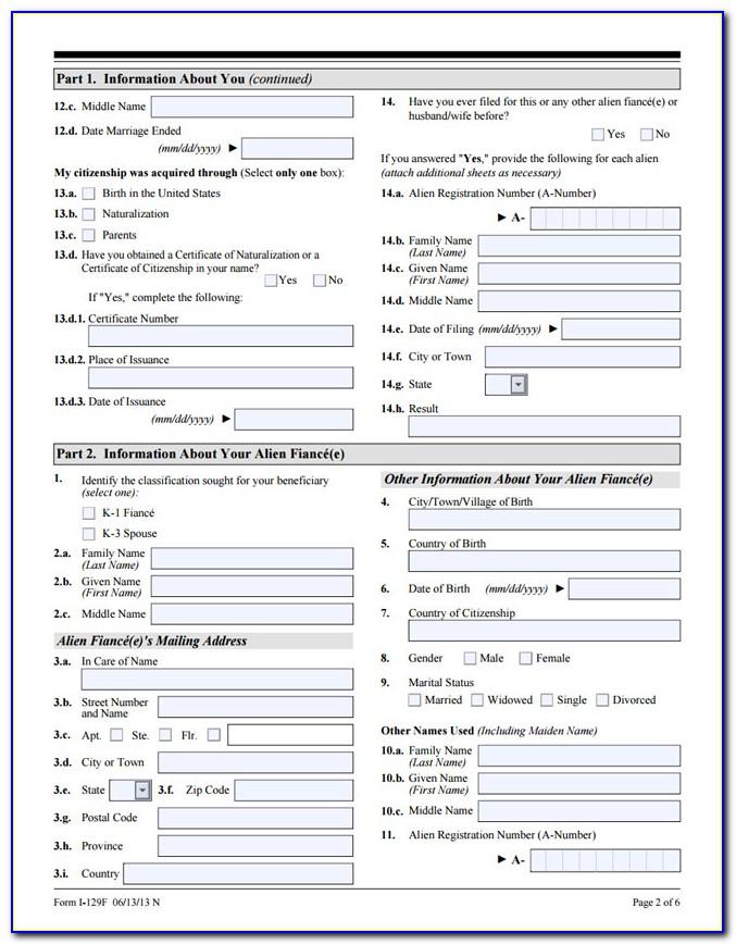 Fiance Visa Form Fc 029