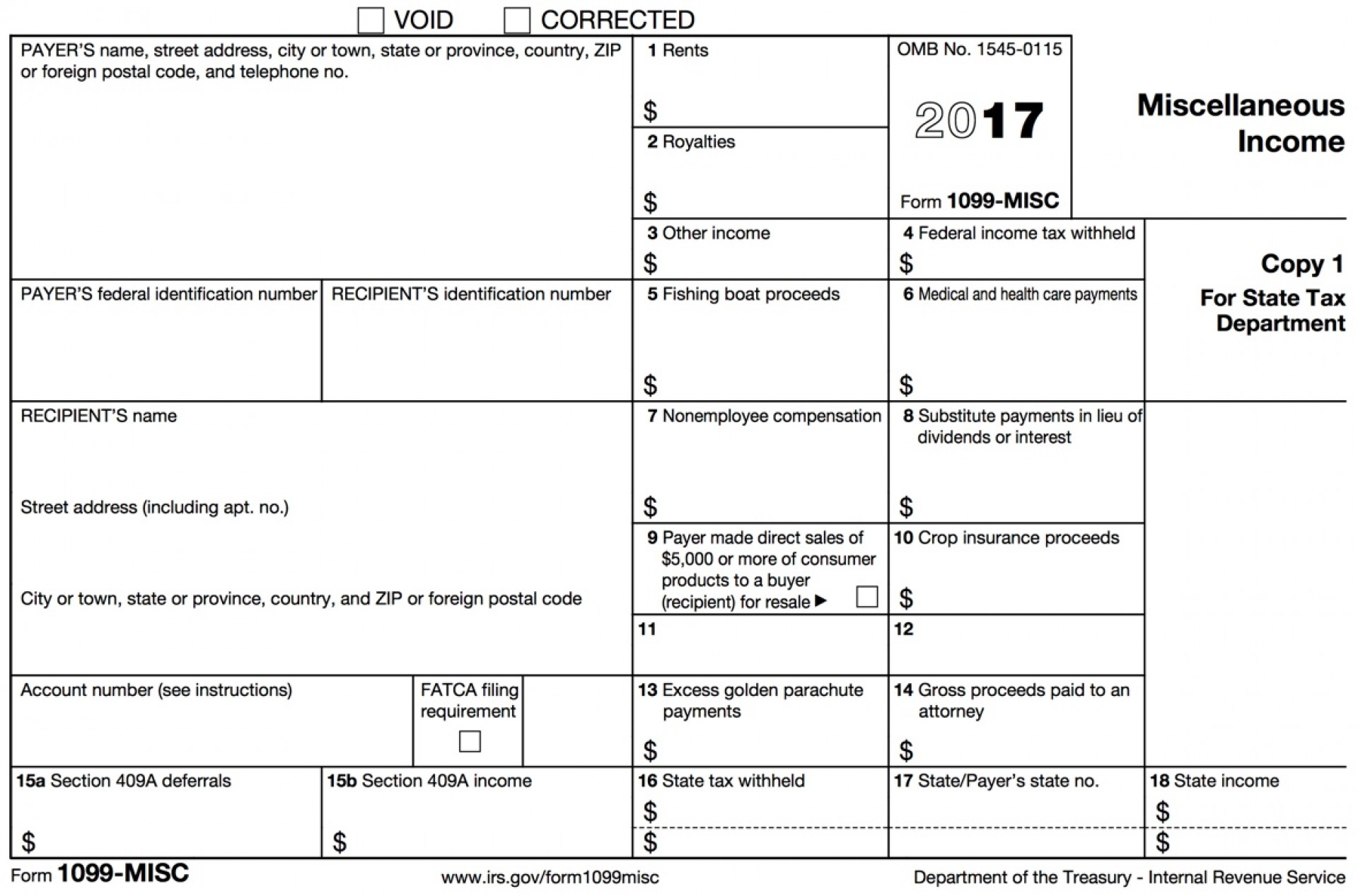 Filing Corrected Form 1099