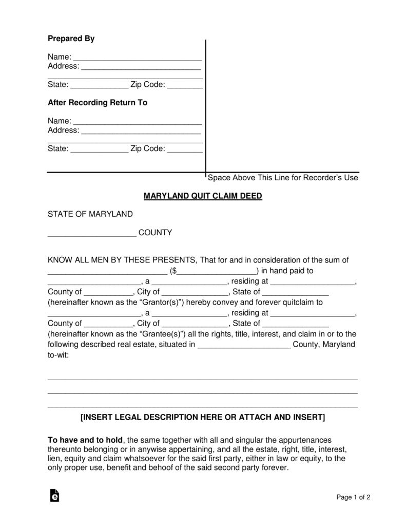 Filing Divorce In Maryland Forms