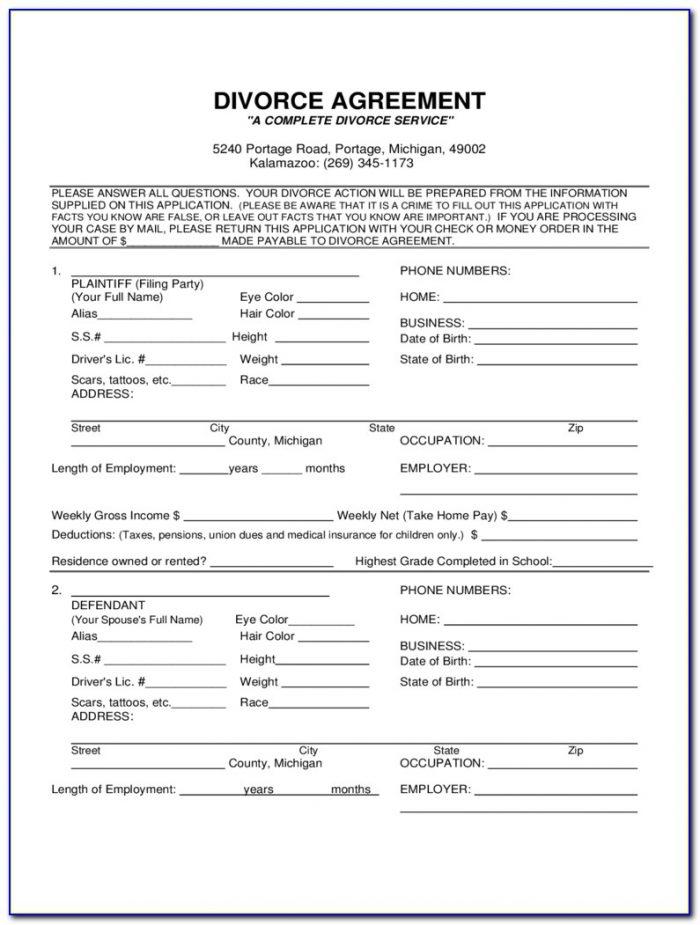 Filing For Divorce In Nj Forms