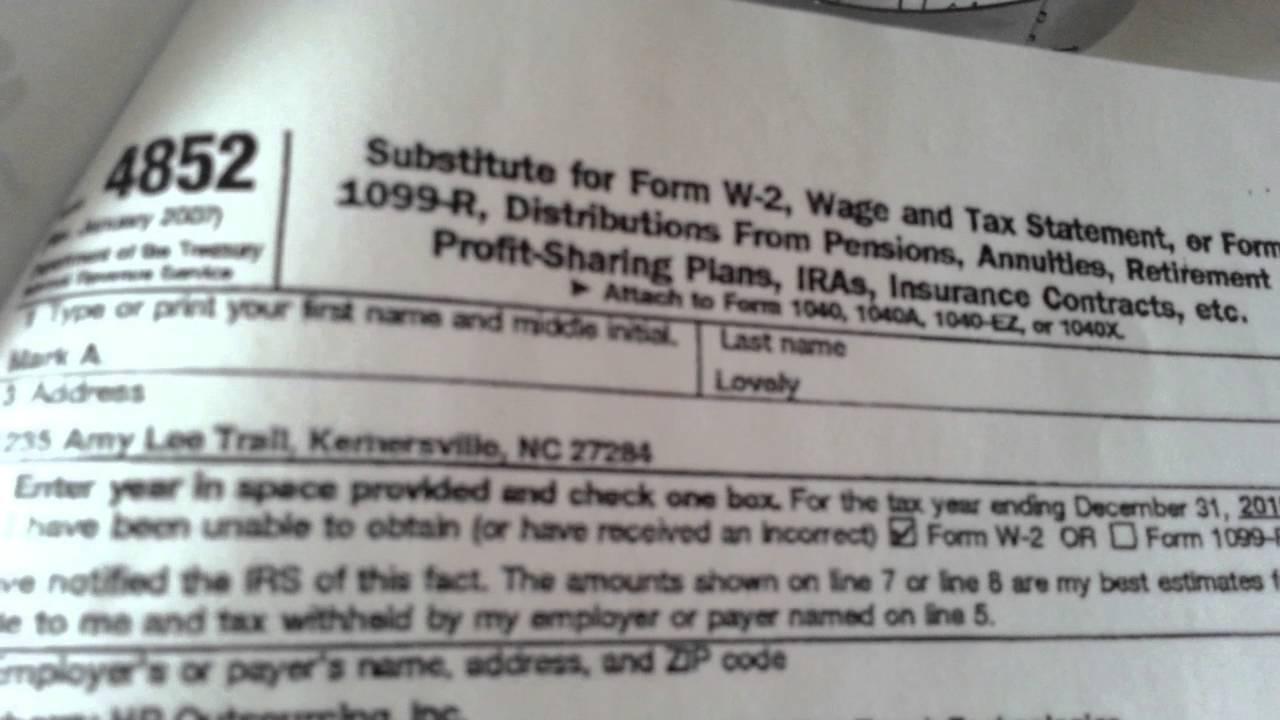 Filing Form 1099 R