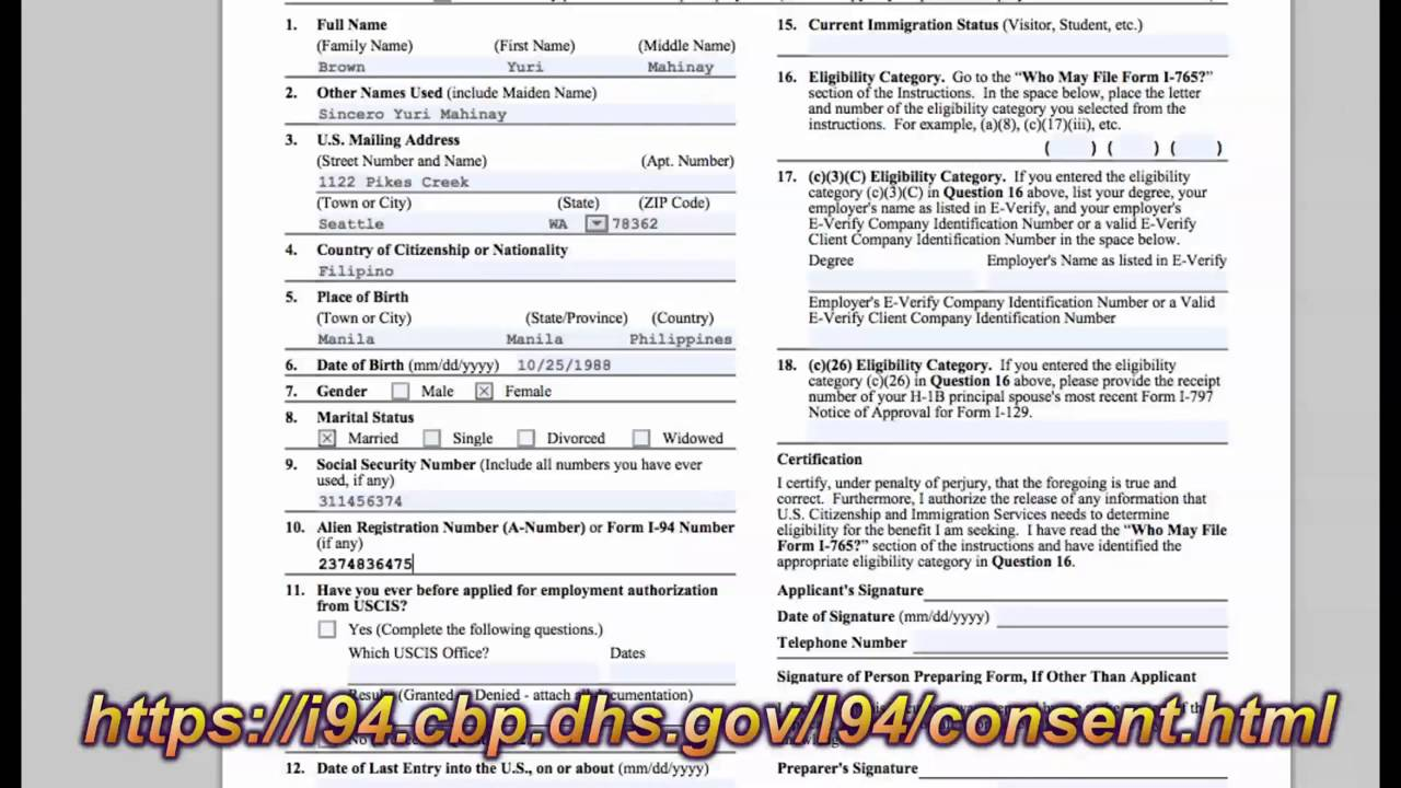 Filing Immigration Forms For Spouse