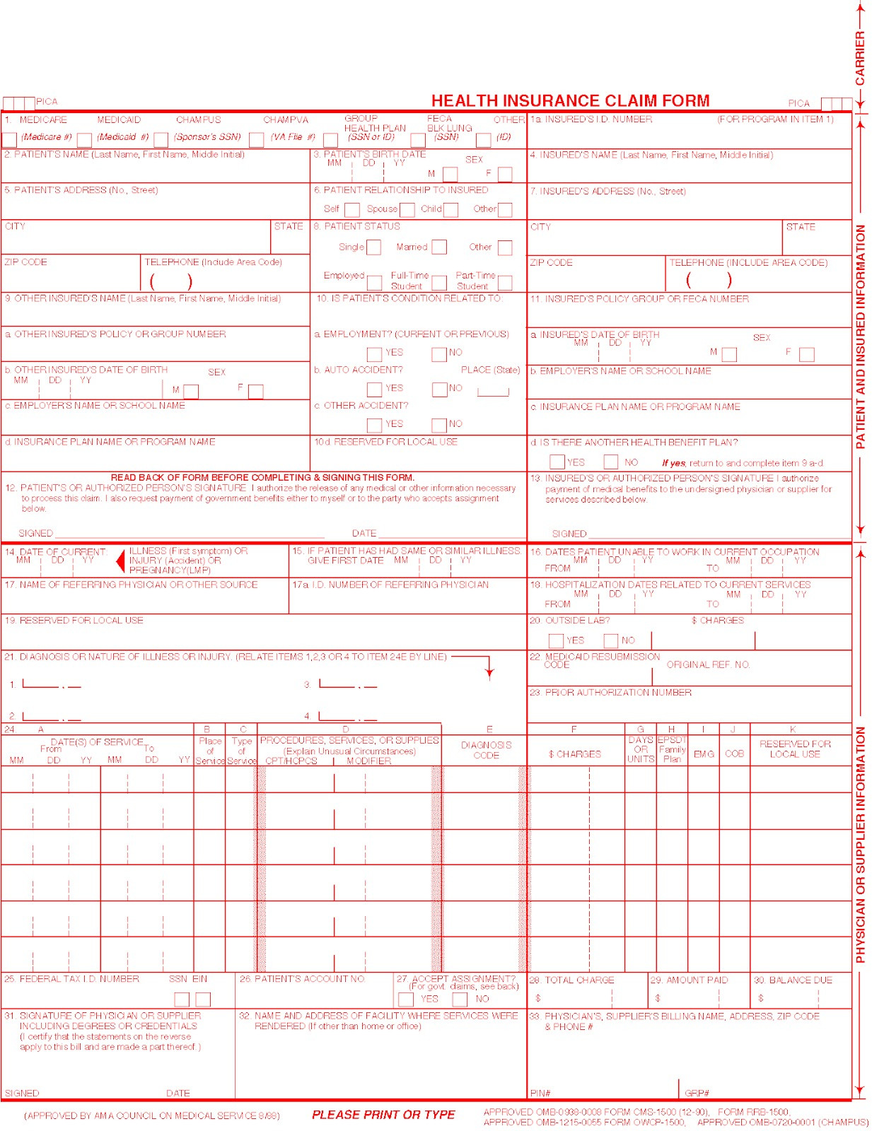 Health Insurance Claim Form 1500 Fillable Unique Understanding Your Medical Claims Insurance Claim Forms Aka The