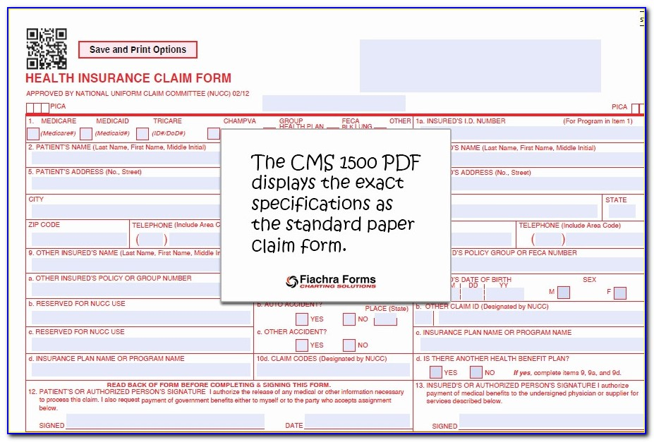 Cms 1500 Claim Form Pdf Fresh Fillable Cms 1500 Best Free Claim Form Bomp